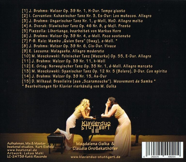CD Klavierduo Stuttgart Tänze aus aller Welt